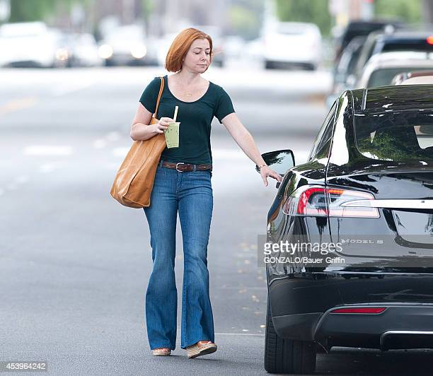 Alyson Hannigan is seen on August 19 2014 in Los Angeles California