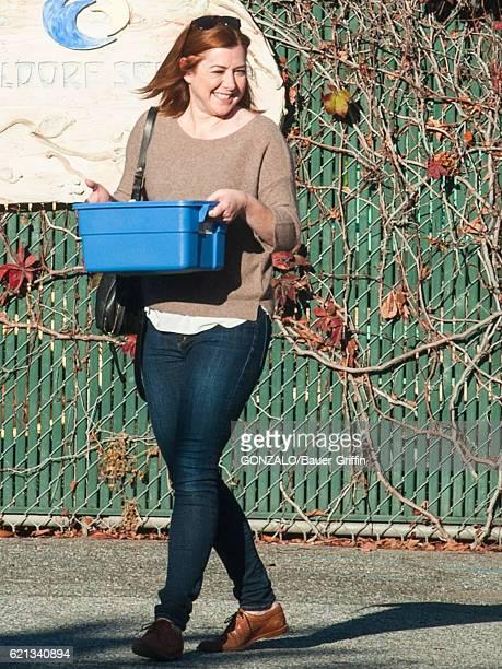 Alyson Hannigan is seen on November 05 2016 in Los Angeles California
