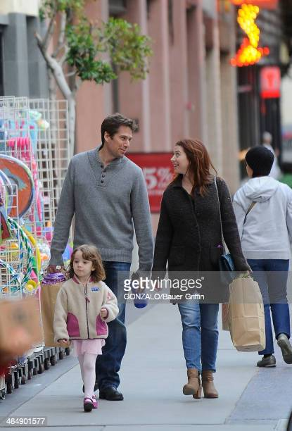 Alyson Hannigan is seen shopping with her husband Alexis Denisof and daughter Satyana Denisof on March 06 2013 in Los Angeles California