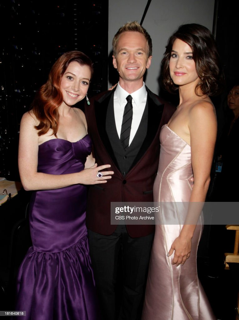 <a gi-track='captionPersonalityLinkClicked' href=/galleries/search?phrase=Alyson+Hannigan&family=editorial&specificpeople=206497 ng-click='$event.stopPropagation()'>Alyson Hannigan</a>, <a gi-track='captionPersonalityLinkClicked' href=/galleries/search?phrase=Neil+Patrick+Harris&family=editorial&specificpeople=210509 ng-click='$event.stopPropagation()'>Neil Patrick Harris</a>, and Cobie Smulders at the 65th Primetime Emmy Awards which will be broadcast live across the country 8:00-11:00 PM ET/ 5:00-8:00 PM PT from NOKIA Theater L.A. LIVE in Los Angeles, Calif., on Sunday, Sept. 22 on the CBS Television Network.
