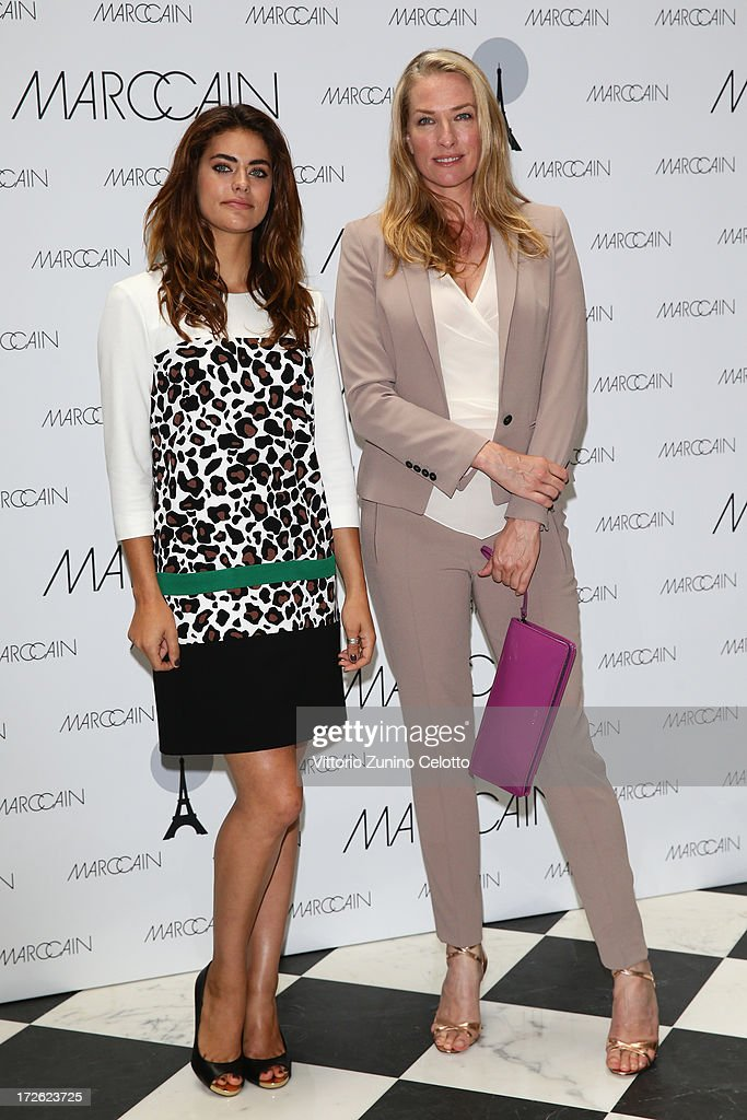 Alyson Le Borges and Tatjana Patitz attend the Marc Cain Photocall during the Mercedes-Benz Fashion Week Spring/Summer 2014 at the Hotel Adlon on July 4, 2013 in Berlin, Germany.