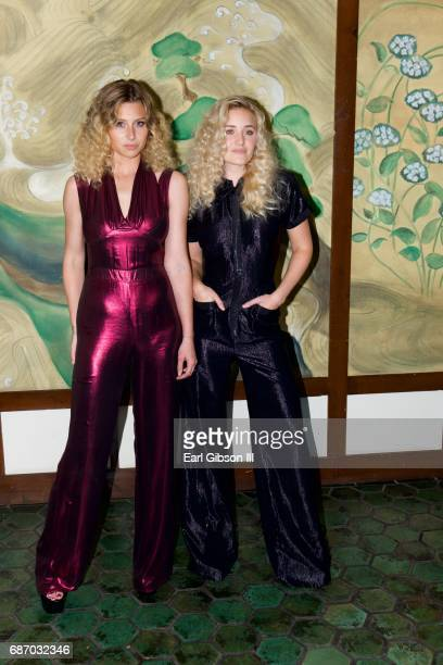 Alyson Michalka and AJ Michalka attend the Wolk Morais Collection 5 Fashion Show at Yamashiro Hollywood on May 22 2017 in Los Angeles California