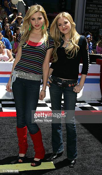 Alyson Michalka and Amanda Michalka of Aly AJ during 'Herbie Fully Loaded' Los Angeles Premiere Arrivals at El Capitan Theater in Hollywood...