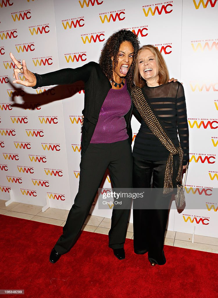 Alyson Palmer and <a gi-track='captionPersonalityLinkClicked' href=/galleries/search?phrase=Gloria+Steinem&family=editorial&specificpeople=213078 ng-click='$event.stopPropagation()'>Gloria Steinem</a> attend the 2012 Women's Media Awards at Guastavino's on November 13, 2012 in New York City.