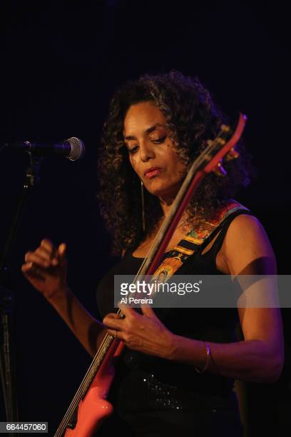 Alyson Palmer of the group Betty perform at the 17th Annual Downtown Seder at City Winery on April 3 2017 in New York City