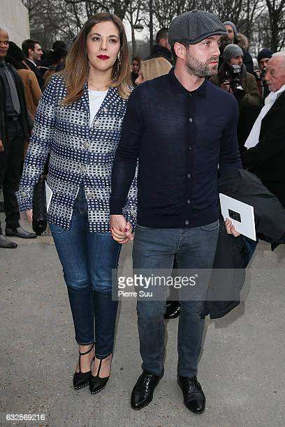 Alyson Paradis and Guilaume Gouix arrive at the Chanel Haute Couture Spring Summer 2017 show as part of Paris Fashion Week on January 24 2017 in...