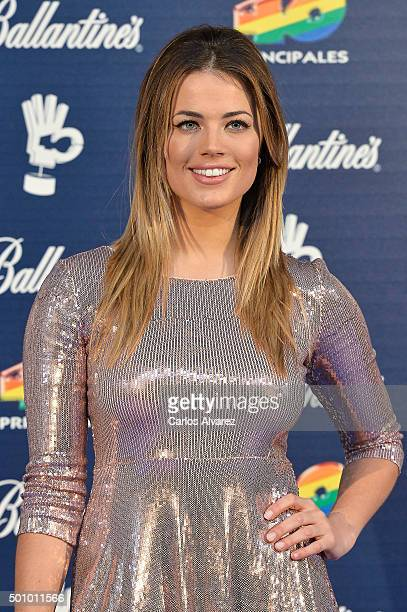 Alyson Rae Eckmann attends the 40 Principales Awards 2015 photocall at the Barclaycard Center on December 11 2015 in Madrid Spain