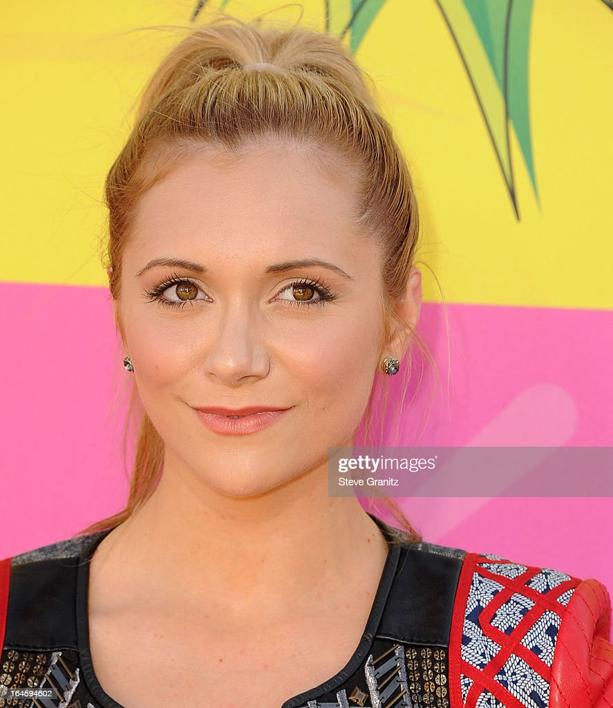 Alyson Stoner arrives at the Nickelodeon's 26th Annual Kids' Choice Awards at USC Galen Center on March 23, 2013 in Los Angeles, California.