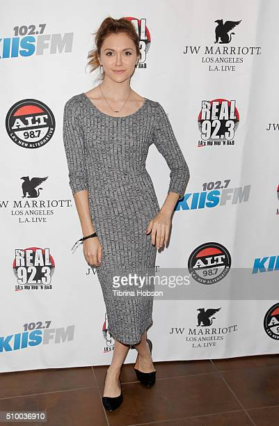 Alyson Stoner attends Alt 987 1027 KIIS FM and REAL 923's 2016 GRAMMY Awards celebration at The Mixing Room at the JW Marriot Los Angeles on February...