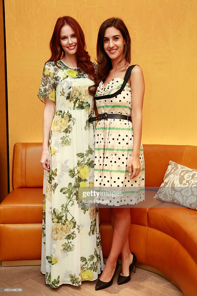 Alyssa Campanella and Natalie Zfat attend Natalie Zfat's Brunch at Clement Restaurant in the Peninsula Hotel on July 20, 2014 in New York City.