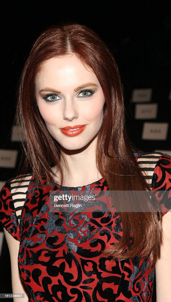 Alyssa Campanella attends Monique Lhuillier during Fall 2013 Mercedes-Benz Fashion Week at The Theatre at Lincoln Center on February 9, 2013 in New York City.