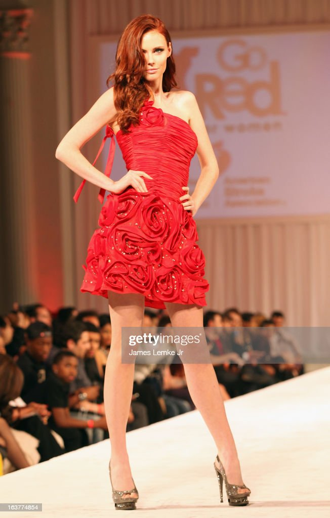 <a gi-track='captionPersonalityLinkClicked' href=/galleries/search?phrase=Alyssa+Campanella&family=editorial&specificpeople=7480512 ng-click='$event.stopPropagation()'>Alyssa Campanella</a> attends the 2013 Los Angeles Fashion Week - Go Red For Women Red Dress Fashion Show held at the Vibiana on March 14, 2013 in Los Angeles, California.