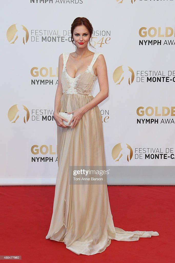 <a gi-track='captionPersonalityLinkClicked' href=/galleries/search?phrase=Alyssa+Campanella&family=editorial&specificpeople=7480512 ng-click='$event.stopPropagation()'>Alyssa Campanella</a> attends the Closing Ceremony and Golden Nymph Awards of the 54th Monte Carlo TV Festival on June 11, 2014 in Monte-Carlo, Monaco.