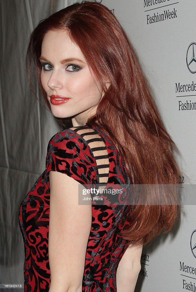 Alyssa Campanella is seen during Fall 2013 Mercedes-Benz Fashion Week at Lincoln Center for the Performing Arts on February 9, 2013 in New York City.