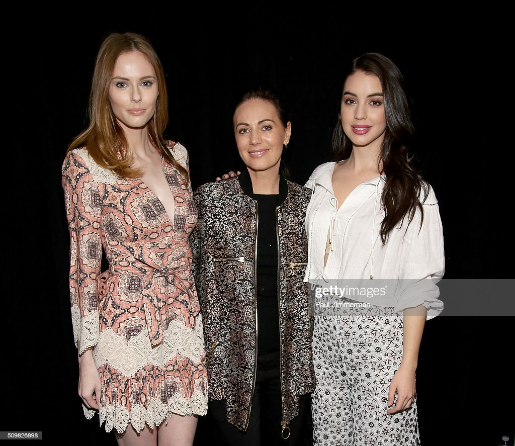 <a gi-track='captionPersonalityLinkClicked' href=/galleries/search?phrase=Alyssa+Campanella&family=editorial&specificpeople=7480512 ng-click='$event.stopPropagation()'>Alyssa Campanella</a>, Nicky Zimmermann, and actress Adelaide Kane attend the Zimmermann Fall 2016 Runway Show at Art Beam on February 12, 2016 in New York City.