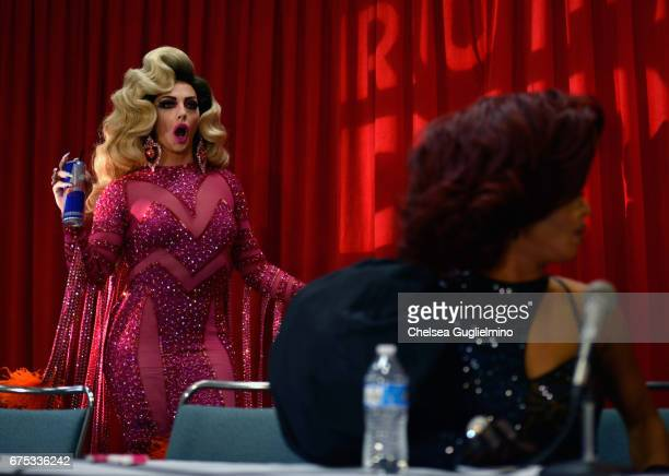 Alyssa Edwards and Shangela onstage during the 3rd Annual RuPaul's DragCon day 2 at Los Angeles Convention Center on April 30 2017 in Los Angeles...