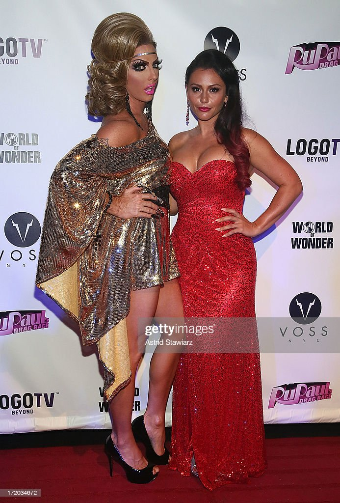 Alyssa Edwards and TV personality Jenni 'Jwoww' Farley attend Logo TV's Official Pride NYC 2013 Event at Highline Ballroom on June 30, 2013 in New York City.