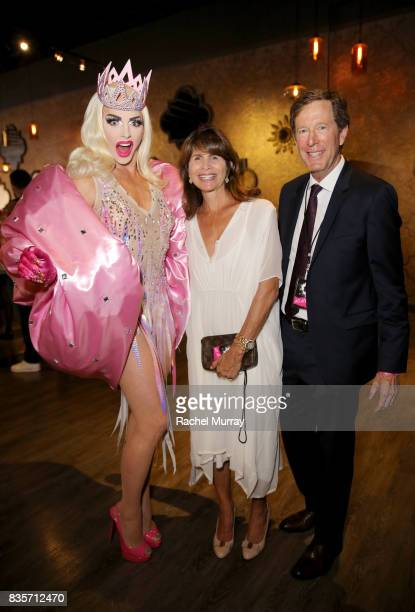 Alyssa Edwards guest and Nyx Cosmetics CEO Scott Friedman at the 2017 NYX Professional Makeup FACE Awards at The Shrine Auditorium on August 19 2017...