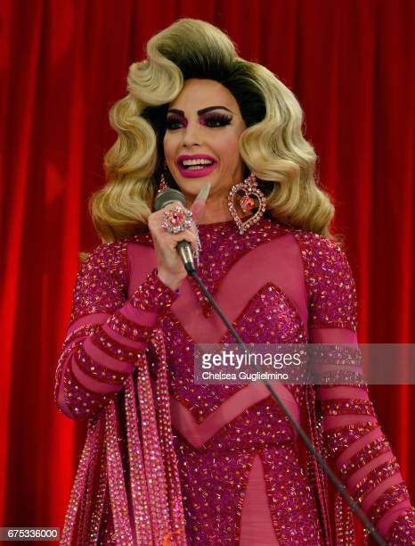 Alyssa Edwards speaks onstage during the 3rd Annual RuPaul's DragCon day 2 at Los Angeles Convention Center on April 30 2017 in Los Angeles California