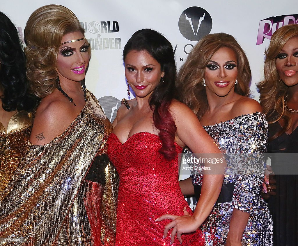 Alyssa Edwards, TV personality Jenni 'Jwoww' Farley, Shangela attend Logo TV's Official Pride NYC 2013 Event at Highline Ballroom on June 30, 2013 in New York City.