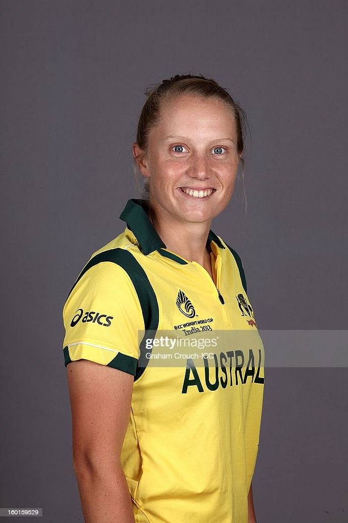 Alyssa Healy of Australia attends a portrait session ahead of the ICC Womens World Cup 2013 at the Taj Mahal Palace Hotel on January 27, 2013 in Mumbai, India.