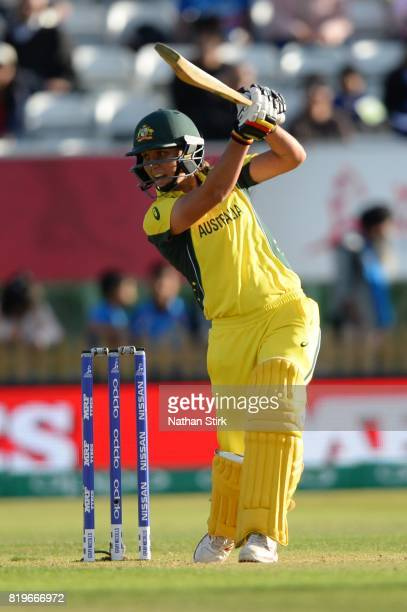 Alyssa Healy of Australia batting during the SemiFinal ICC Women's World Cup 2017 match between Australia and India at The 3aaa County Ground on July...