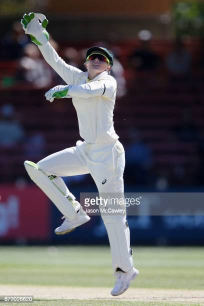 Alyssa Healy of Australia fields during the Women's Test match between Australia and England at North Sydney Oval on November 9 2017 in Sydney...