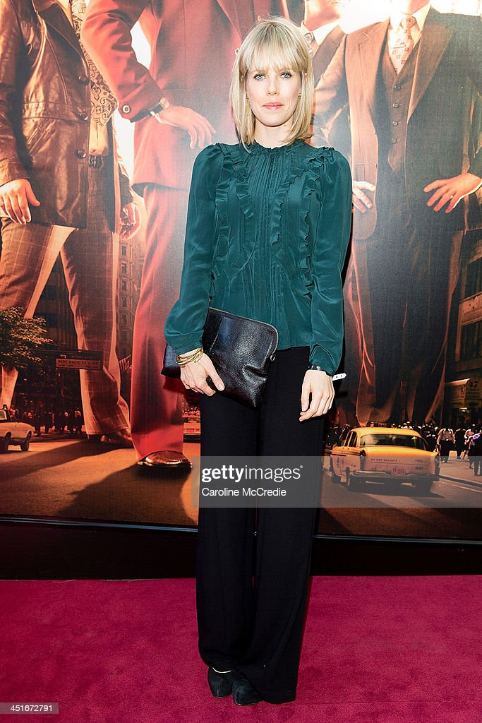 <a gi-track='captionPersonalityLinkClicked' href=/galleries/search?phrase=Alyssa+McClelland&family=editorial&specificpeople=634310 ng-click='$event.stopPropagation()'>Alyssa McClelland</a> arrives at the 'Anchorman 2: The Legend Continues' Australian premiere on November 24, 2013 in Sydney, Australia.