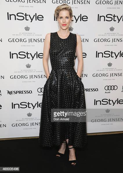 Alyssa McClelland poses at the Instyle and Audi Women Of Style Awards nominees cocktail party at Georg Jensen Castlereagh Street on March 3 2015 in...