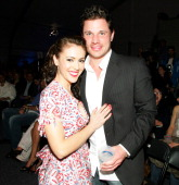 Alyssa Milano and Nick Lachey during 2006 General Motors Annual ten Celebrity Fashion Show Inside at 1540 N Vine in Hollywood California United States