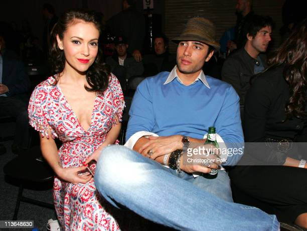 Alyssa Milano and Victor Webster during 2006 General Motors Annual ten Celebrity Fashion Show Inside at 1540 N Vine in Hollywood California United...