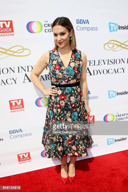 Alyssa Milano at the Television Industry Advocacy Awards at TAO Hollywood on September 16 2017 in Los Angeles California