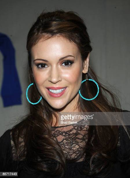 Alyssa Milano attends a book signing for Safe At Home at the BookMark Shoppe on March 30 2009 in the Brooklyn borough of New York City