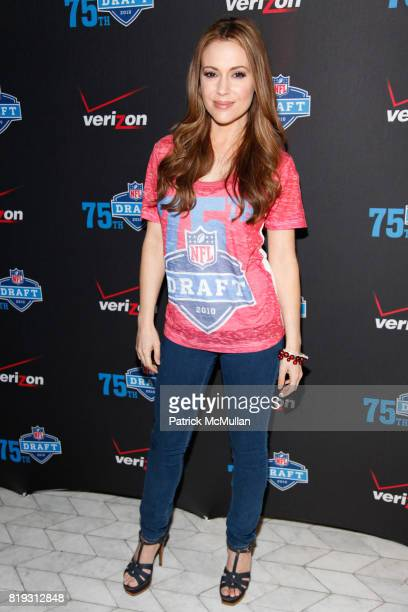 Alyssa Milano attends NFL and VERIZON Celebrate Draft Eve at Abe and Arthur's on April 21 2010 in New York City