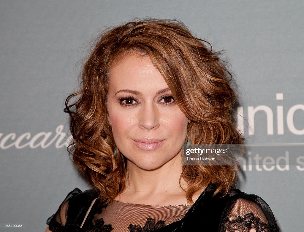 <a gi-track='captionPersonalityLinkClicked' href=/galleries/search?phrase=Alyssa+Milano&family=editorial&specificpeople=203329 ng-click='$event.stopPropagation()'>Alyssa Milano</a> attends the 2014 UNICEF ball presented by Baccarat at Regent Beverly Wilshire Hotel on January 14, 2014 in Beverly Hills, California.