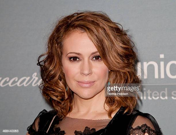 Alyssa Milano attends the 2014 UNICEF ball presented by Baccarat at Regent Beverly Wilshire Hotel on January 14 2014 in Beverly Hills California