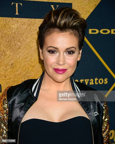 Alyssa Milano attends The 2016 Maxim Party With Bootsy Bellows at Treasure Island on February 6 2016 in San Francisco California