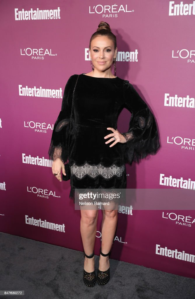 Alyssa Milano attends the 2017 Entertainment Weekly Pre-Emmy Party at Sunset Tower on September 15, 2017 in West Hollywood, California.