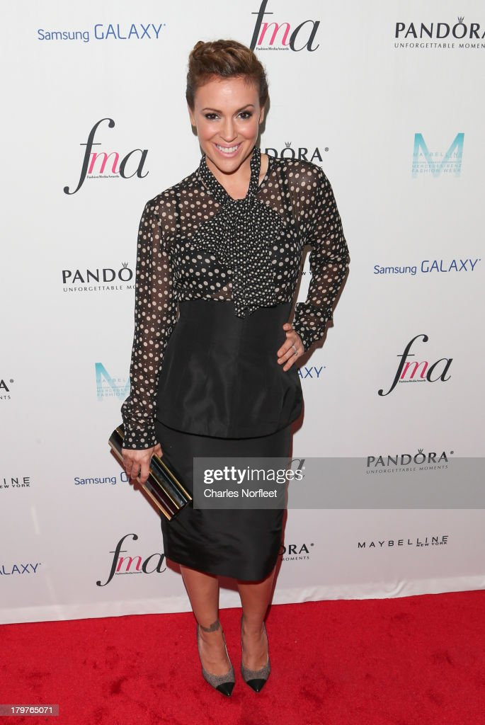 <a gi-track='captionPersonalityLinkClicked' href=/galleries/search?phrase=Alyssa+Milano&family=editorial&specificpeople=203329 ng-click='$event.stopPropagation()'>Alyssa Milano</a> attends the Daily Front Row's Fashion Media Awards at Harlow on September 6, 2013 in New York City.