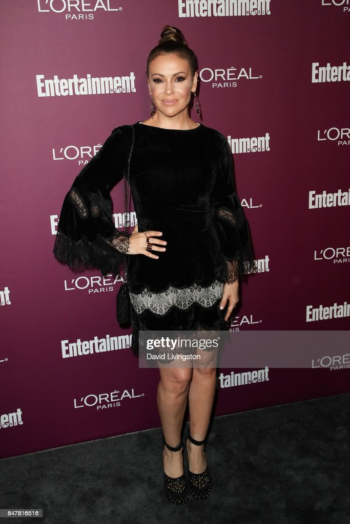 Alyssa Milano attends the Entertainment Weekly's 2017 Pre-Emmy Party at the Sunset Tower Hotel on September 15, 2017 in West Hollywood, California.