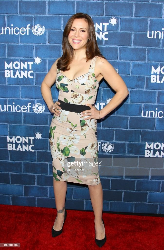 Alyssa Milano attends the Montblanc and UNICEF pre-Oscar brunch celebrating their limited edition collection at Hotel Bel-Air on February 23, 2013 in Los Angeles, California.