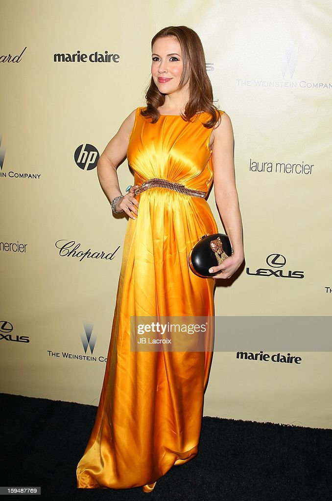 Alyssa Milano attends The Weinstein Company's 2013 Golden Globes After Party at The Beverly Hilton Hotel on January 13, 2013 in Beverly Hills, California.