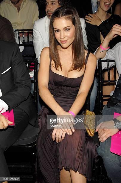 Alyssa Milano during 11th Victoria's Secret Fashion Show Audience at Kodak Theater in Los Angeles California United States