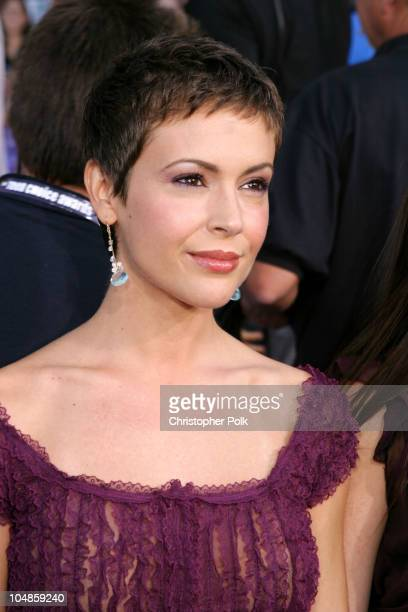 Alyssa Milano during 2003 Teen Choice Awards Arrivals at Universal AmphiTheater in Universal City California United States