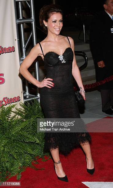 Alyssa Milano during 2006 Us Magazine and Rolling Stone Rock the Oscars After Party Arrivals at Wolfgang Puck at the Pacific Design Center in West...