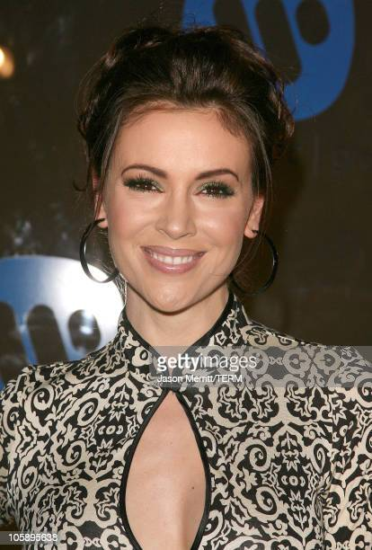 Alyssa Milano during 2006 Warner Music Group GRAMMY After Party at The Pacific Design Center in Hollywood California United States