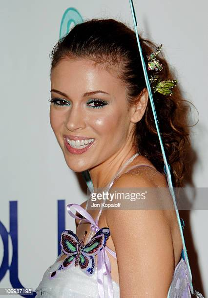 Alyssa Milano during 7th Annual Heidi Klum Halloween Party Sponsored by MM's Dark Chocolate Arrivals at Privilege in Los Angeles California United...