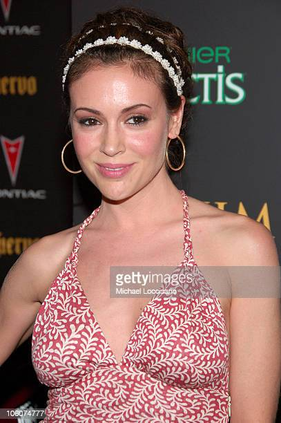 Alyssa Milano during 7th Annual Maxim Hot 100 Party at Buddha Bar in New York City New York United States