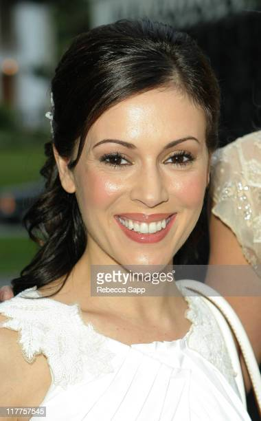 Alyssa Milano during Benefit for the Michael J Fox Foundation May 4 2005 at Private Residence in Santa Monica California United States