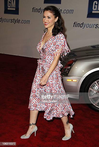 Alyssa Milano during General Motors Annual ten Celebrity Fashion Show Arrivals in Los Angeles California United States